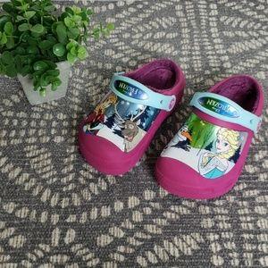 Disney Frozen Fleece Lined Pink Crocs